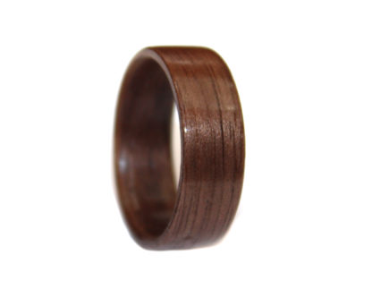 8 mm Bentwood Ring with Black Walnut Inlay Inner/Outer Model #9103A