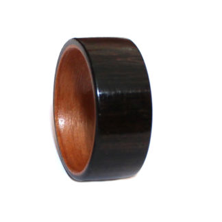 10 mm Bentwood Ring with Birch Sleeve & Ebony Outer Model #9109A