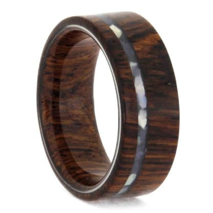 8 mm Rosewood & Mother of Pearl in Titanium Model #3295