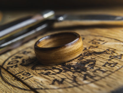 10 mm Bentwood Ring with Whiskey Barrel Model #9301