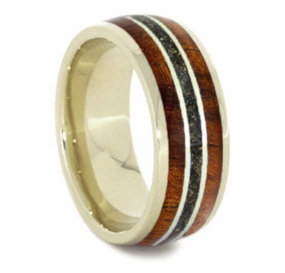 8 mm KOA/Green Sand Inlay with 14 Kt. White Gold Model #3297