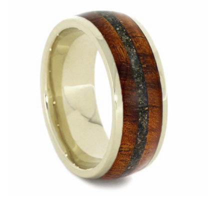 8 mm KOA/Green Sand Inlay with 14 Kt. White Gold Model #3296
