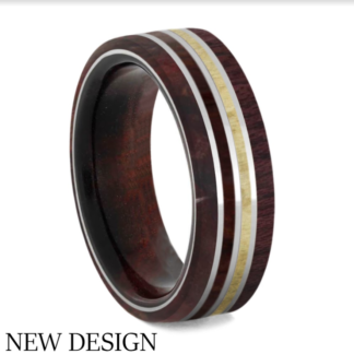 7.75 mm Redwood, Birch, Rosewood and Purple Heart in Titanium Model #3445