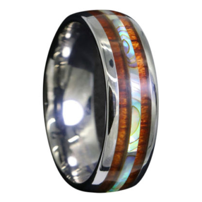 6 mm Tungsten with Dual KOA and Abalone Shell Inlays Model #2016