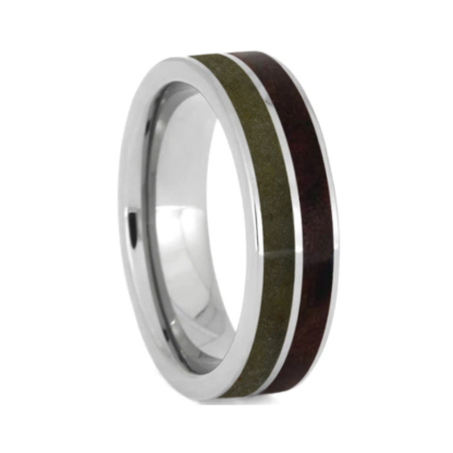 6 mm Redwood & Topaz Inlay in Titanium Model #3299