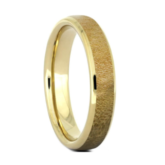 4 mm 14 Kt. Yellow Gold and Maple Wood Inlay Model #3112