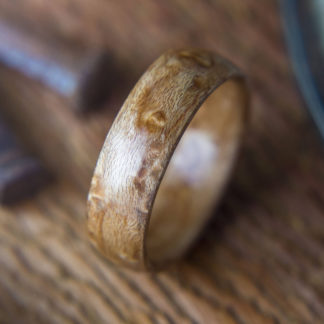 8 mm Bentwood Ring with Bird's Eye Maple Model #9301.5