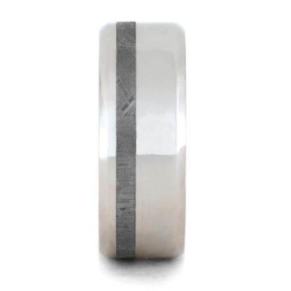 8 mm Platinum & Meteorite Inlay Model #3291