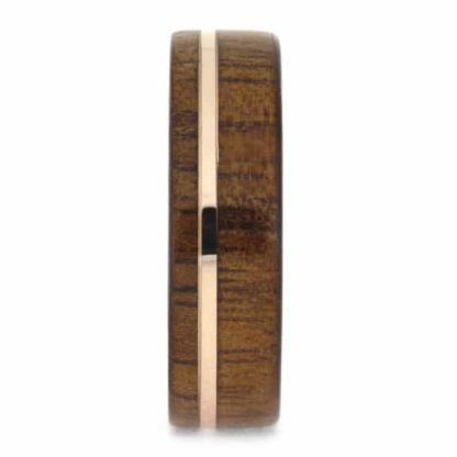 7 mm KOA Wood Inlay in 14 Kt. Rose Gold Model #3294