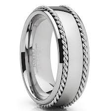 8 mm Dual Stainless Steel Inlay Design with Tungsten Model #2036