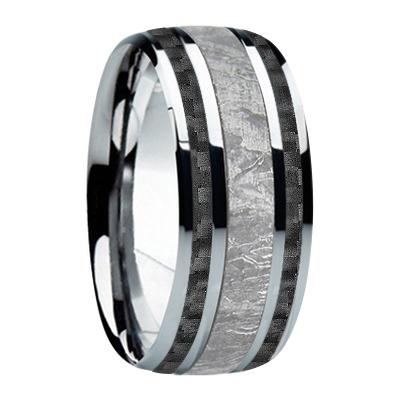9 mm Meteorite Inlay & Black Carbon Fiber in Titanium Model #8002